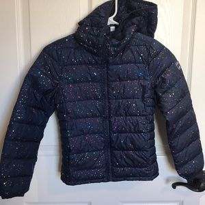 LN Navy GAP Kids Puffer Jacket Medium (size 8)